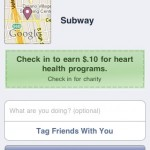 Subway FaceBook Places Heart Health Program